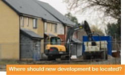 Where should new development be located 3